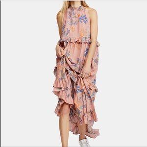 {Free People} Anita Printed Maxi Dress Size M NWT
